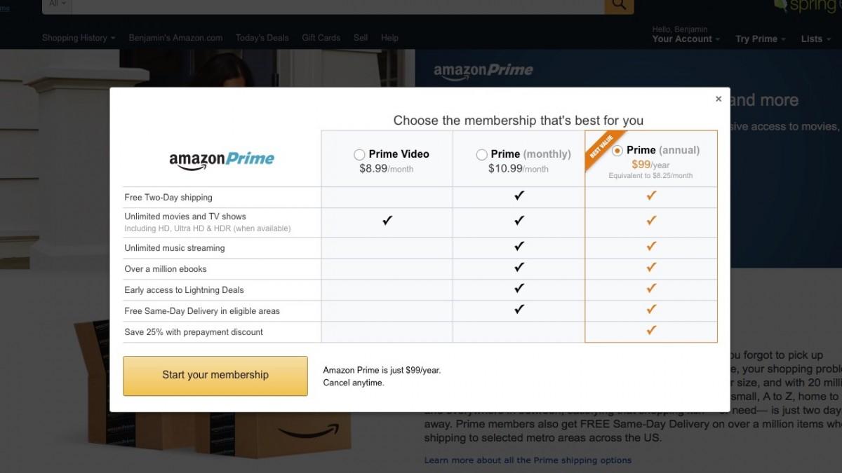 Amazon Launches Prime Subscriptions
